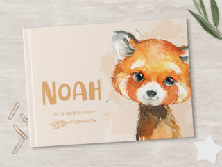 Babyalbum zum Ausfüllen | Personalisierbar | Fuchs